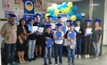 Училища ЕВРОПА - Ловеч раздадоха сертификатите на Кеймбридж